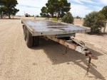 020a Dual axle flat top hay trailer a